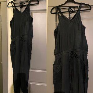 Michael Stars Black Cotton Jumpsuit